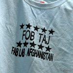 T Shirt designed and printed in Afghanistan Fablab
